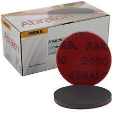 "Mirka Abralon 77mm 3"" P2000 Grit 20x hooknloop Schiuma Pad Dischi di finitura fine"