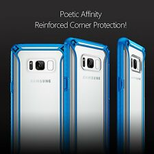 For Samsung Galaxy S8 Plus Poetic Shockproof Case Corner Protective Cover Blue