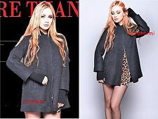 Nuevo Abrigo Negro de Lana Capa ZARA de gran tamaño con bucles Tamaño S