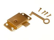 10 de Puerta De Armario Cajón Ropero cerradura y llave 63mm + TORNILLOS