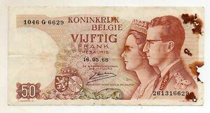 BELGIUM 50 Francs 1966