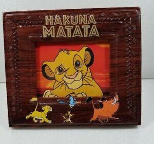 """Disney Lion King Photo Picture Frame 7"""" x 6 """" - Photo Area 3' x4"""""""