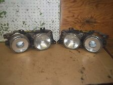 1990 BMW 735I L R HEADLIGHTS ELLIPSOID 133 631 00 1988-1995 1994 1993 1992 1991