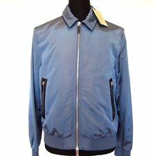 L-2757300 New Burberry London Ellesmere Blue Nylon Zip Jacket Coat Size-S