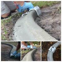 Yard DIY Landscape Curb Tool Plastering Concrete Trowel New Garden Flooring D5S2