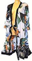 TS cardy TAKING SHAPE plus sz XXS / 12 Tropicana Duster sheer cardi jacket NWT!