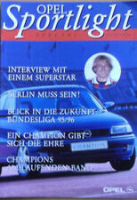 Opel Cup bayern munich ac milan 1995/96 programa Spotlight