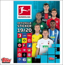 Topps Bundesliga Sticker 2019/2020 komplett Set alle 349 Sticker + Album 19/20