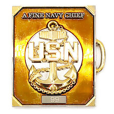 US Navy CPO Welcome to the Mess A Fine Navy Chief Suitcase Challenge Coin !