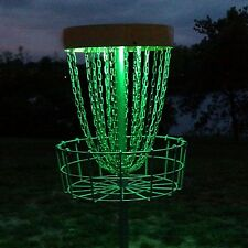 Set of 2 Led Lights for Disc Golf Basket Multi Colored Remote Controlled Wate.