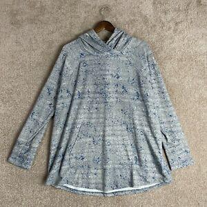 LulaRoe Amber Hoodie Womens Size XXL Gray Speckle Pullover Sweatshirt Knit