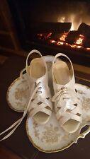 Bella Vita Gracia Wedge Laced Sandals Women's Shimmery Cracked Gold Sz 12M NIB