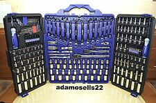 KOBALT 200pc STANDARD METRIC MASTER MECHANIC SOCKET RATCHET COMBO WRENCH SET