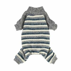 Fitwarm Dog Clothes Turtleneck Knitted Dog Pajamas Striped Sweater Winter Outfit