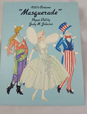 1920's Retro Masquerade Costume Paper Dolls Judy Johnson Out of Print Fun
