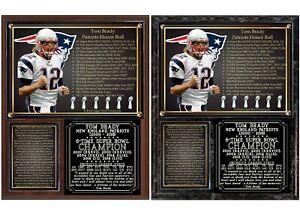 Tom Brady Career Tribute New England Patriots Photo Plaque