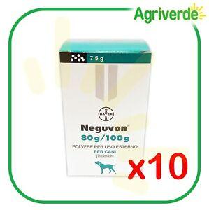 BAYER Antiparassitario in Polvere NEGUVON per Cani con Triclorfon 75 Gr 10 PEZZI