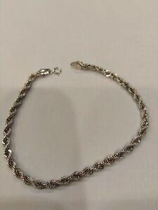 Women's Bracelet To Cord, White Gold 18KT, CM 18,5, Grams 2,40, New