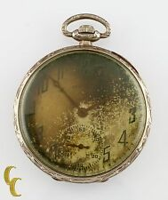 Illinois Watch Co. Grade 525 14K Gold Open Face Pocket Watch 17 Jewel Size 12s