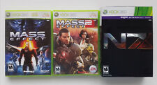 MICROSOFT XBOX 360 LIVE MASS EFFECT 1 2 & 3 N7 COLLECTORS EDITION RPG VIDEO GAME