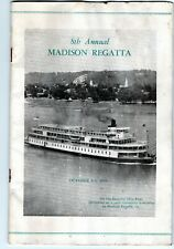 1955 Madison regatta program, rare, unlimited hydroplanes