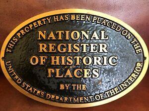 NATIONAL REGISTER OF HISTORIC PLACES PLAQUE - BRONZE POWDER CAST RESIN