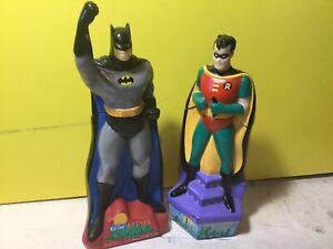 2 pcs Vintage Batman and Robin, Kid Care Bubble Bath1995 DC Comics FULL NEW