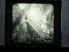 VINTAGE COLLECTIBLE GLASS PICTURE NEGATIVE Chaupichaca Bridge above the Sea Peru