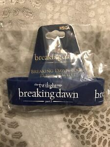 Twilight Saga Breaking Dawn Part 2 Logo Rubber Bracelet