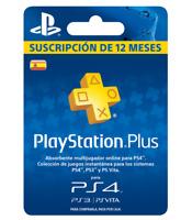 PSN PLUS / PLAYSTATION PLUS / 1 AÑO / 12 MESES (!!LEER DESCRIPCION!!!)