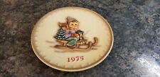 M.J. Hummel Hand Painted 5th Annual Plate 1975 Hum 268 W. Germany (637)