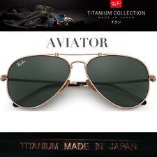 Original  Brand new Ray-Ban TITANIUM Aviators  sunglasses  RB8125 913658