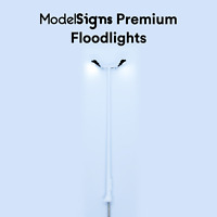 ModelSigns Premium - LED Floodlights for Model Railways OO HO UK