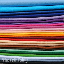 Wool Mix 9 inch Felt Square x 25 Starter Rainbow Pack
