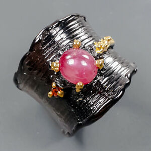 Gemstone jewelry Star Ruby Ring Silver 925 Sterling  Size 6 /R175066