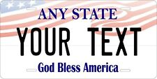 Any State Any Text USA Flag Top Personalized Auto Motorcycle License plate