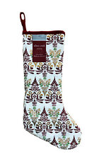 Allen + Roth 19 In Burgundy Ivory Christmas Stocking