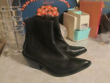 Ecote black Leather Chelsea  Stretch Boots Booties Womens Size 7