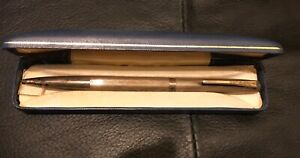 Yard O Lead Solid Silver Hallmarked Pen (Engraved)