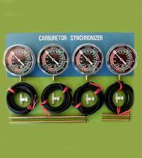 FOUR motorcycle carburetor CARB SYNCHRONIZER VACCUM GAUGE TOOL gauge sync Ducati