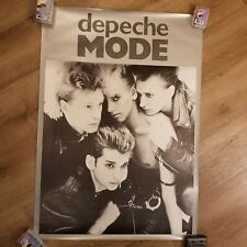Depeche Mode poster 1985 silver black group poster