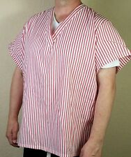 Candy Striper Nurse Uniform V-Neck Unisex LARGE Halloween Costume VTG NEW H1