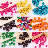 1000pcs Wood Round Loose Spacer Beads Jewelry Making Finding DIY 3mm x 4mm
