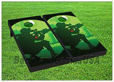 VINYL WRAPS Cornhole Boards DECALS Solider Sniper Gun Bag Toss Game Stickers 432