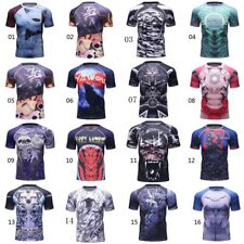 UFC RashGuard MMA Garment Compression Wear Quick Dry Short Sleeve BJJ Tee Shirt