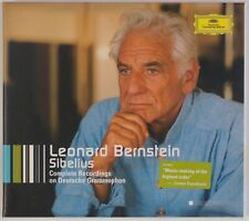 LEONARD BERNSTEIN: Conducts Sibelius (Complete Recordings) DGG 3x CD BOX