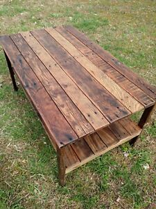 Coffee Table- Reclaimed Pallet Wood- UpCycled - Handmade-Vintage, Rustic Look