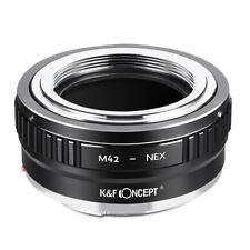 K&F concepto Adaptador para M42 Tornillo Lente de cámara de montaje para Sony E NEX A7 a7 a7R