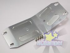 ALUMINUM LOWER CENTER SKID PLATE SILVER FOR HPI 1/8 SAVAGE X ALLOY MIDDLE