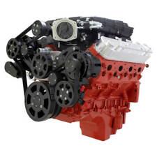 Cvf Chevy Ls Engine Magnuson Serpentine Kit With Alternator Ac Amp Ps Black Finish